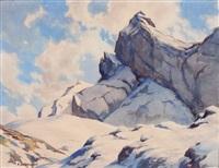 névé en haute montagne by eugène bernhardt
