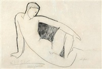 nu assis by amedeo modigliani