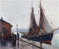 rainy dock by anthony thieme