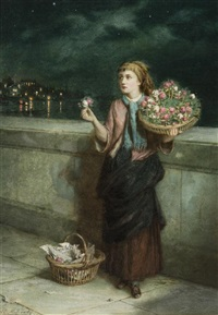 a town flower girl by augustus edwin mulready