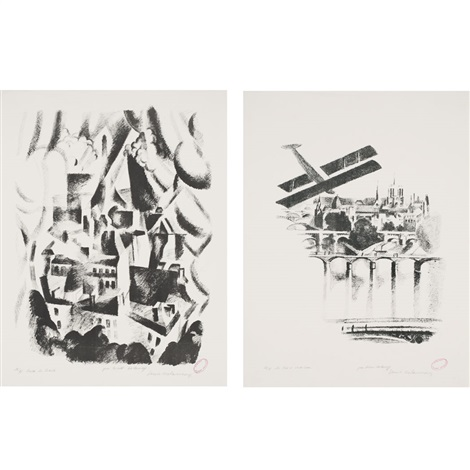 la fenetre sur la ville les ponts et notre dame 2 works by robert delaunay