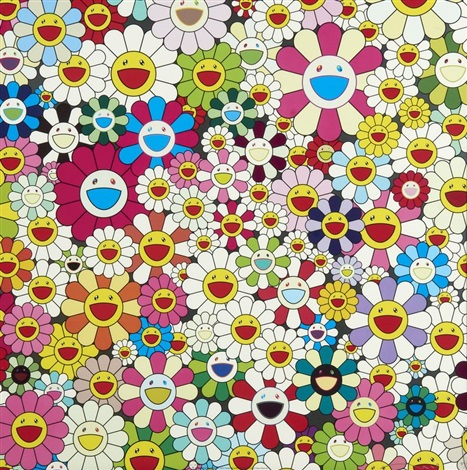 maiden in the yellow straw hat by takashi murakami