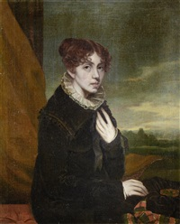 portrait of a lady holding a hat by scottish school (19)