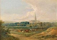 salisbury cathedral by william henry earp