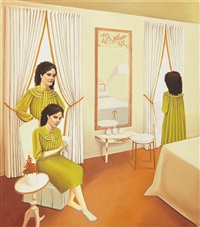 self-portrait in yellow bedroom by sandra scolnik