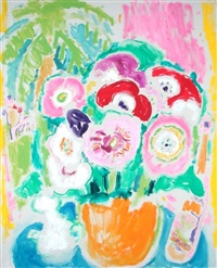 big bouquet (+ untitled, color lithograph poster, smllr; 2 works) by bob paul kane