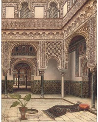 courtyard of the dolls, the alcazar, seville by tomas aceves