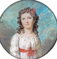 portrait d'adélaïde de vilmorin, comtesse barrois by marie-victoire lemoine