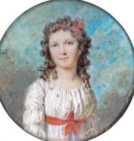 portrait dadélaïde de vilmorin comtesse barrois by marie victoire lemoine