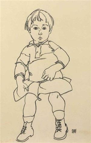 porträt eines kindes anton peschka jr by egon schiele