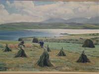 crofters making hay by h. j. squires