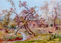 apple blossom, lower hay farm by alexander carruthers gould