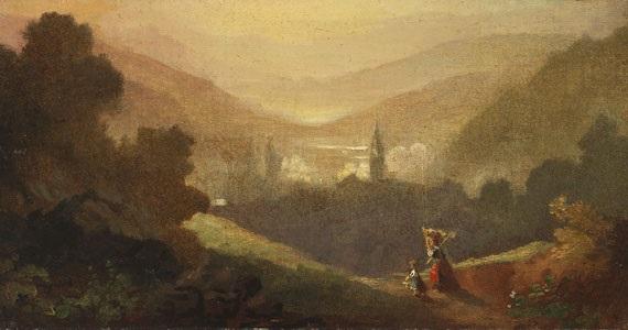 berglandschaft mit sennerin und kind by carl spitzweg