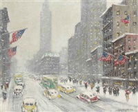 5th avenue and the empire state building by guy carleton wiggins