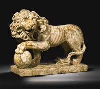 lion with a sphere under its paw (after the antique) by anonymous-italian (18)