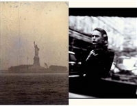 a scene from london (+ statue of liberty; 2 works) by peter arnell