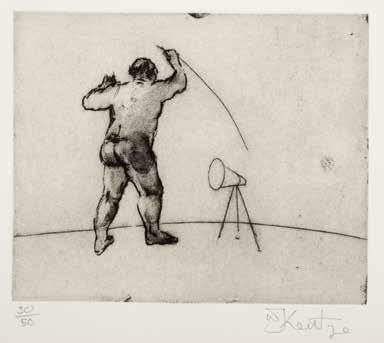 untitled (artist standing) by william kentridge