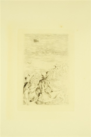a la plage by pierre auguste renoir