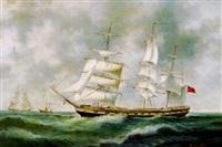 british clipper ship on the high seas by robinson jones