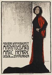 moderne kammerkunst - marya delvard / marc henryk - lieder und stimmungen by fritz-friedrich boscovits