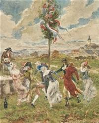 danse républicaine autour de l'arbre de la liberté by noel saunier