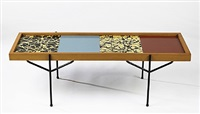 modular-top coffee table by edgar bartolucci