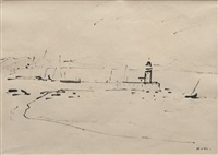 phare de cassis (sketch) by albert marquet