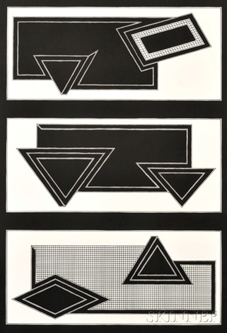 black stack from the stacks series by frank stella