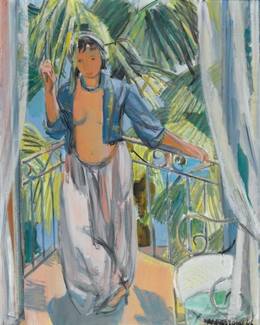 odalisque au balcon by maurice barraud