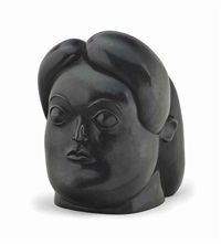 woman's head by fernando botero