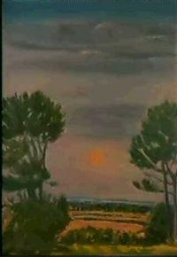 bluish landscape by jane freilicher