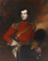 portrait of lieutenant charles phillip de ainslie by frederick yeates hurlstone