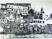 rive de varanasi by patrice serres