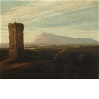 ruins in italy by washington allston