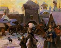 russian winter by anatollo sokolov