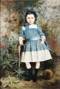 portrait de fillette by auguste aridas