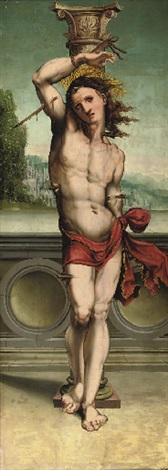 saint sebastian by anton woensam von worms