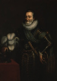 portrait d'henri iv en armure by jacob bunel