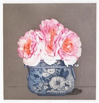 bowl of roses by beth van hoesen