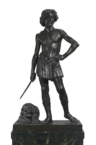 david with the head of goliath by donatello