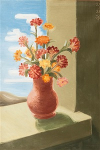 flowers in a vase by peter dülberg