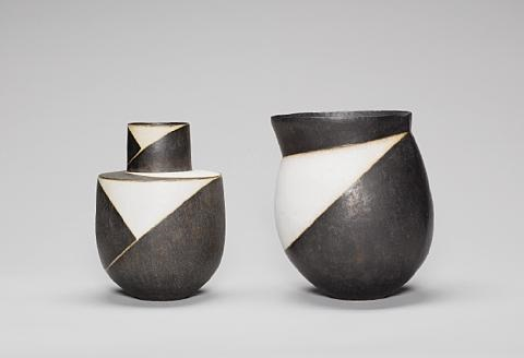 pot with extended rim by john ward