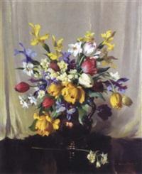 still life of flowers by vernon ward