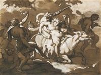 la procession de silène (+ etude de femme nue assise (study), verso) by théodore géricault