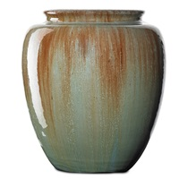 rare high-glaze vase by grueby
