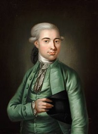an elegant gentleman in a green jacket by herman koefoed