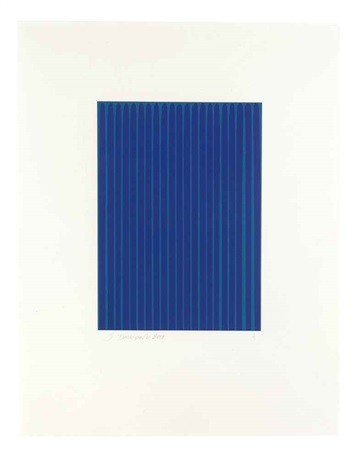 Ultramarine Blue Light On Cerulean 9 From Etched Lines By