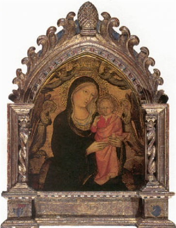 madonna of humility the madonna and child surrounded by angels by agnolo di taddeo gaddi