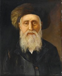 rabbi portrait by maurits de groot