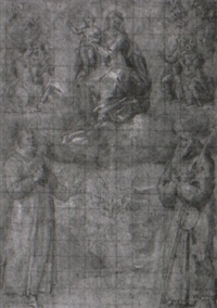 madonna and child with saints by avanzino nucci